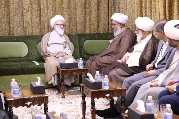 مرجع عالیقدر جناب شیخ یعقوبی کی مجمع عالمی اہل بیت (علیہم السلام) کے سربراہ سے ملاقات
